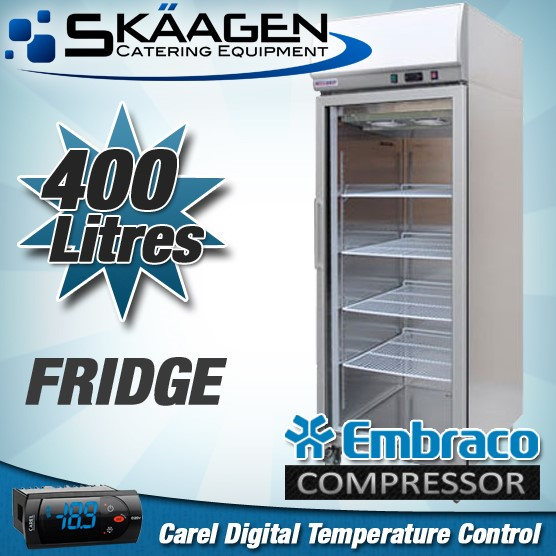 Unused Single Glass door Display Fridge 400L - YCC01-LB