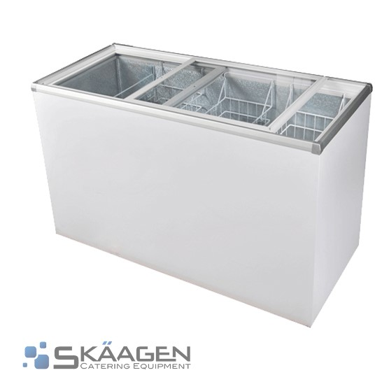 Unused Glass Top Chest Freezer