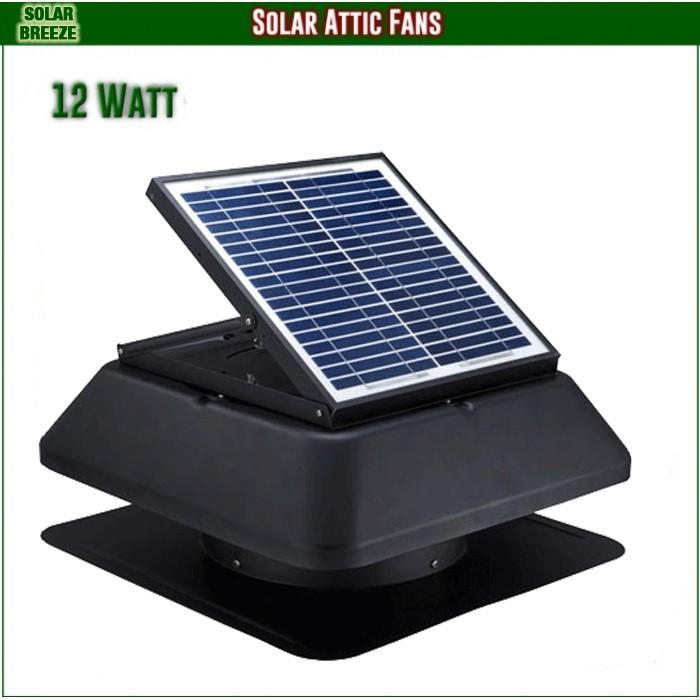 Unused Solar Breeze 1212S Solar Roof Ventilation Fan
