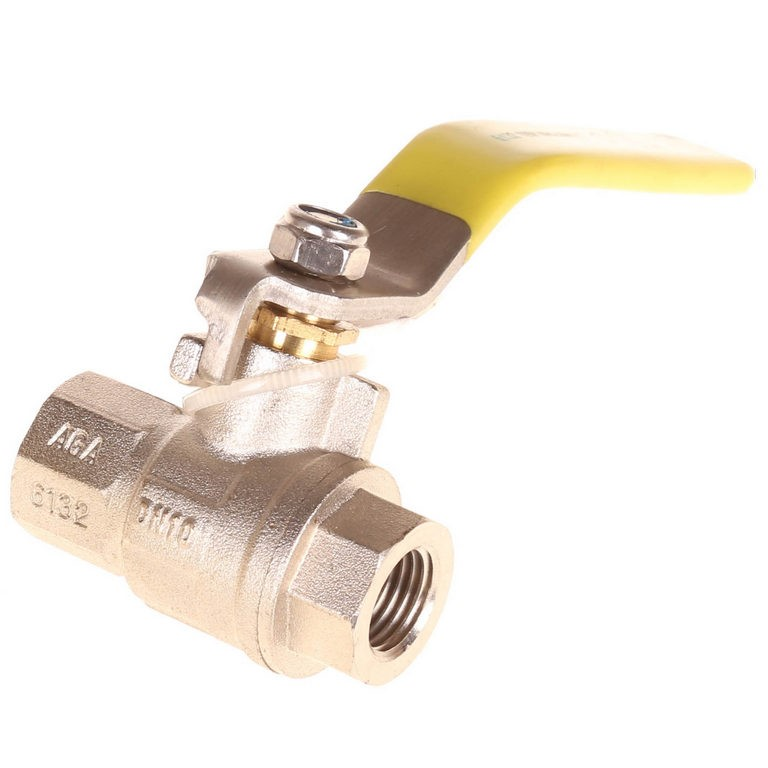 5 x DIXON Nickel Plated Brass Ball Valves 6mm with Stainless Steel Yellow H