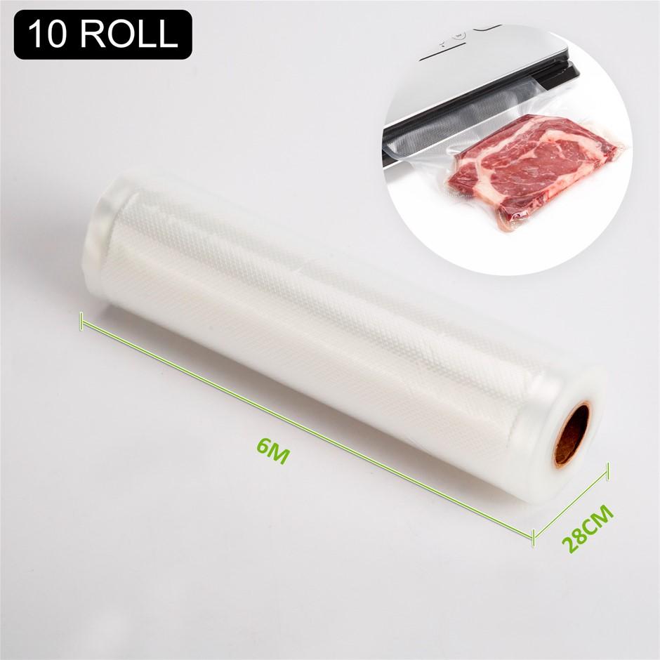 10x Vacuum Food Sealer Roll - 6m x 28cm