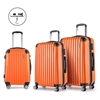 Wanderlite 3 Piece Lightweight Hard Suit Case - Orange