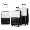 Wanderlite 3 Piece Lightweight Hard Suit Case - Black & White