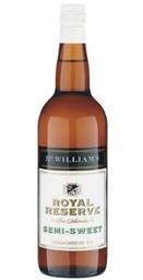 McWilliam's Royal Reserve Semi Sweet NV (12 x 750mL), SE AUS.