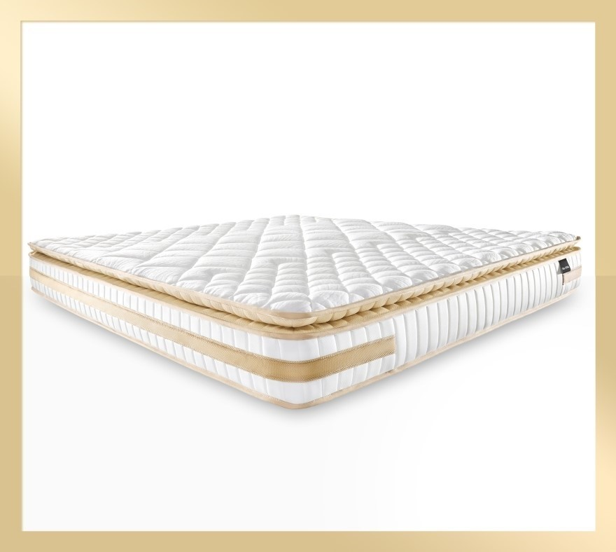 Atlas Gold - Memory Foam Pillow Top Mattress with Firm Edge, King size