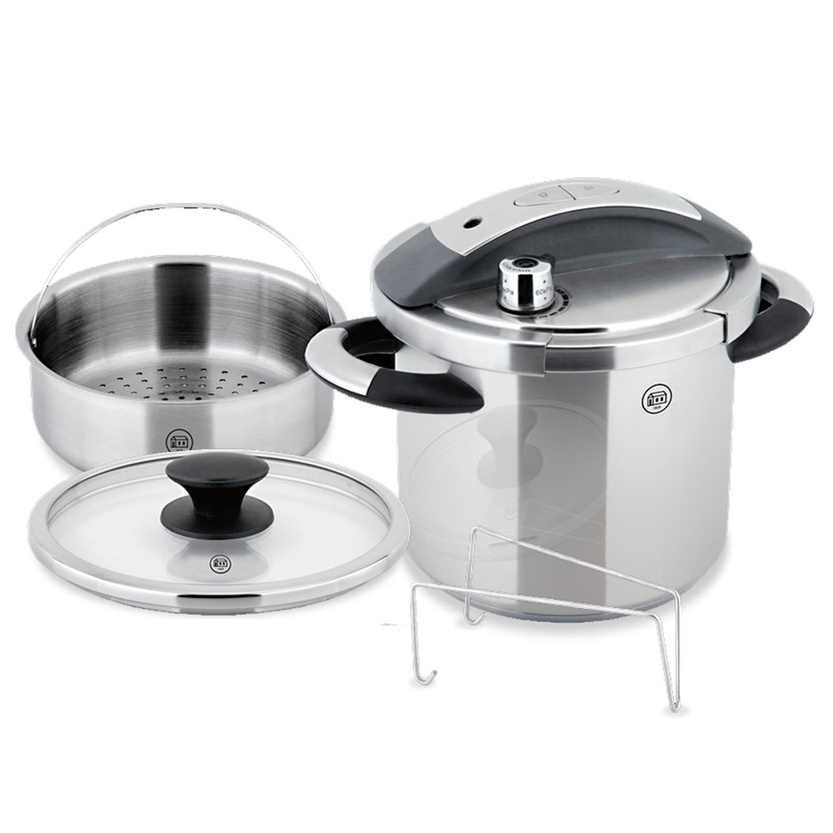 Prepro 7 Liter SS Pressure Cooker Casserole Pot Stove Top Induction