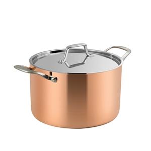 Lassani Tri-Ply Copper 20cm Casserole St