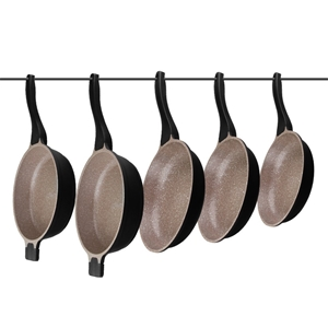 K2 5pc Ceramic Stone Deep Frying Pan Coo
