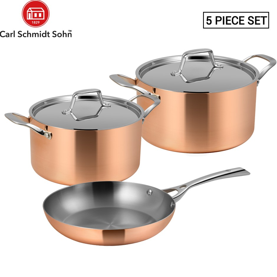 Lassani tri-ply copper Set of 5 Cookware Frypan 20cm