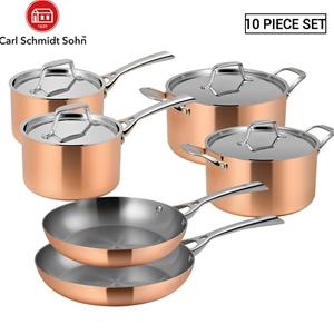 Lassani Tri-ply Copper 10pc Cookware Fry