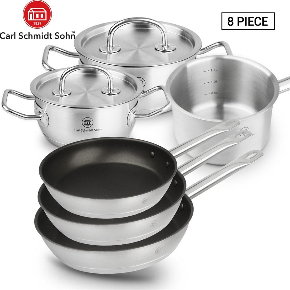 Pro-X Stainless Steel Cookware Set Casserole Pot Lid Frying Pan Saucepan