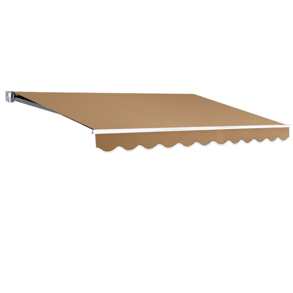 Instahut 3M x 2.5M Outdoor Folding Arm Awning - Beige