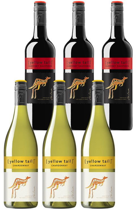 Yellowtail Chardonnay & Cabernet Sauvignon Mixed Pack (6 x 750mL), SE AUS.