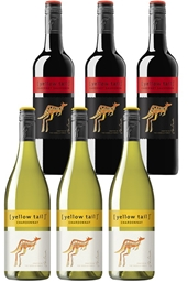 Yellowtail Chardonnay & Cabernet Sauvignon Mixed Pack (6 x 750mL), SE AUS.