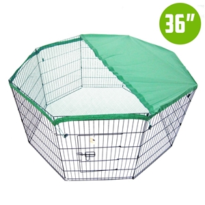 "8 Panel Foldable Pet Playpen 36"" w/ Cove"