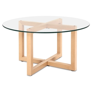 Artiss Tempered Glass Round Coffee Table
