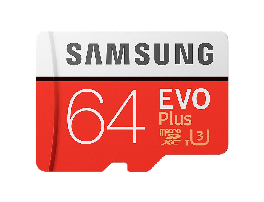 Samsung (MB-MC64GA/APC) EVO Plus microSD Card (with SD Adapter) 64GB