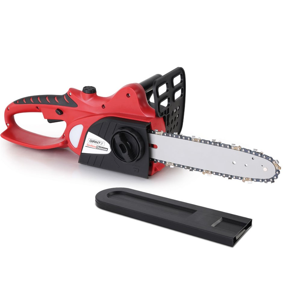 Giantz 20V Cordless Chainsaw - Black and Red