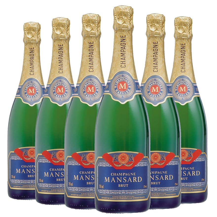 Mansard Champagne NV (6 x 750mL), France.