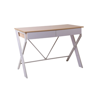 Artiss Metal Desk with Drawer - White wi