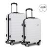 Wanderlite 2 Piece Lightweight Hard Suit Case - White