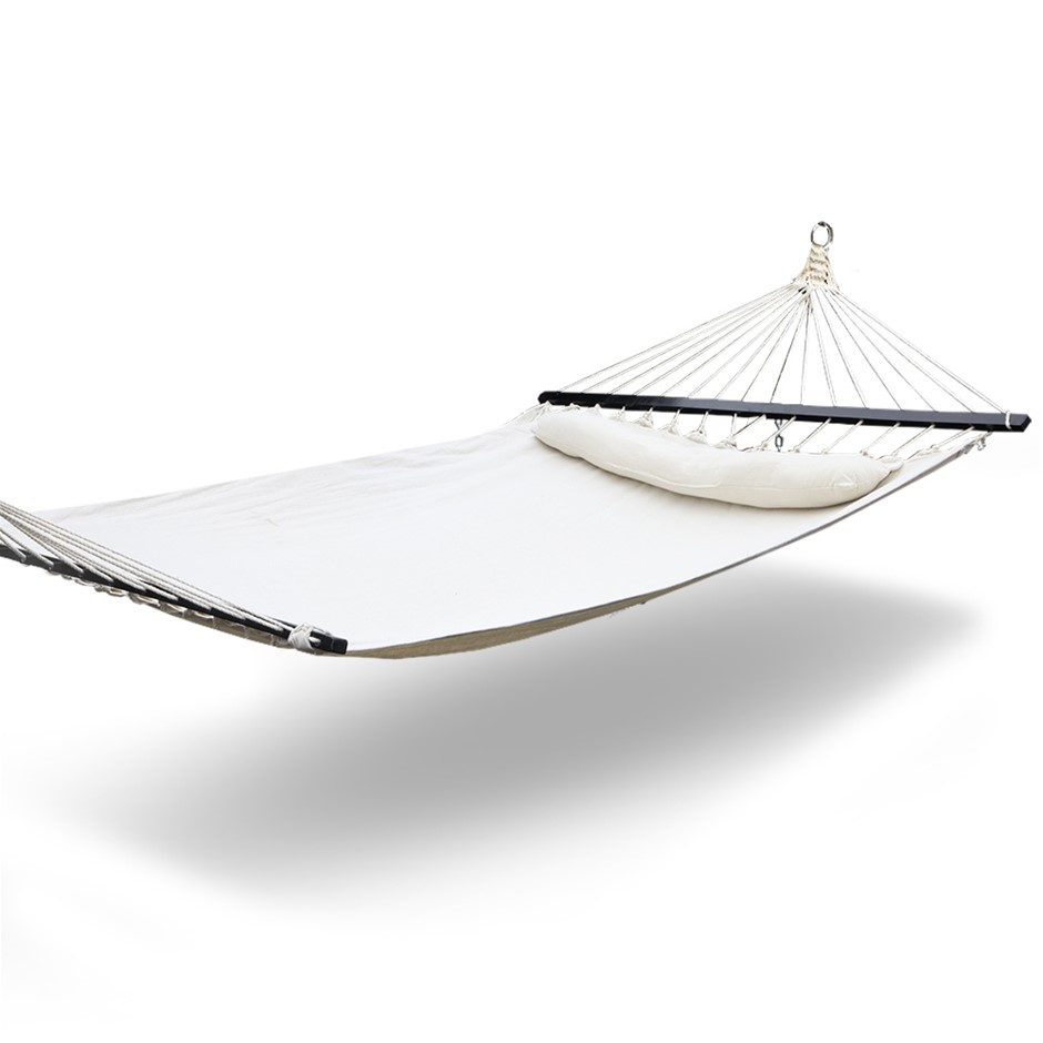 Gardeon Hammock Double Swing Bed with Hanging Kit - Cream