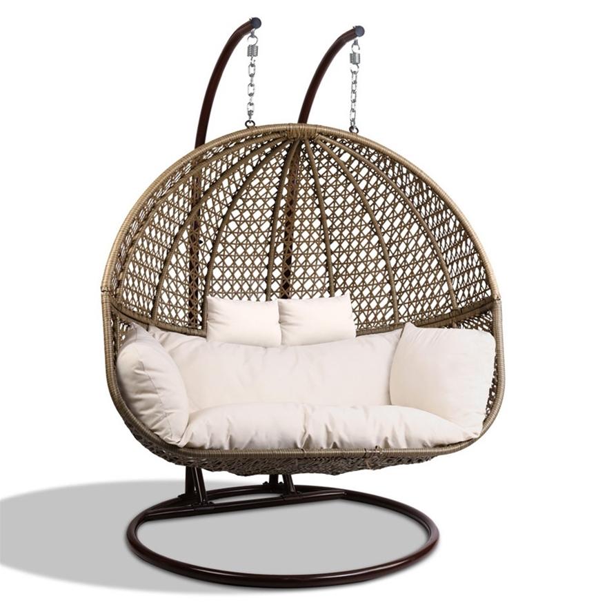 Buy Gardeon Outdoor Double Hanging Swing Chair - Brown ...