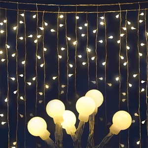 Jingle Jollys 300 LED Curtain Lights - W