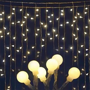Jingle Jollys 600 LED Curtain Lights - W