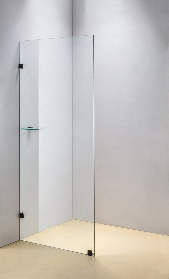 700 x 2000mm Frameless 10mm Safety Glass Shower Screen