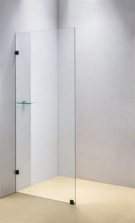 900 x 2100mm Frameless 10mm Safety Glass Shower Screen