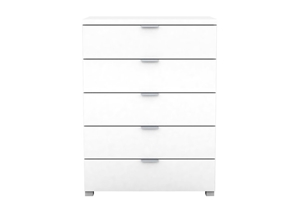 Kyana High Gloss 5 Drawer Tall-Boy Chest