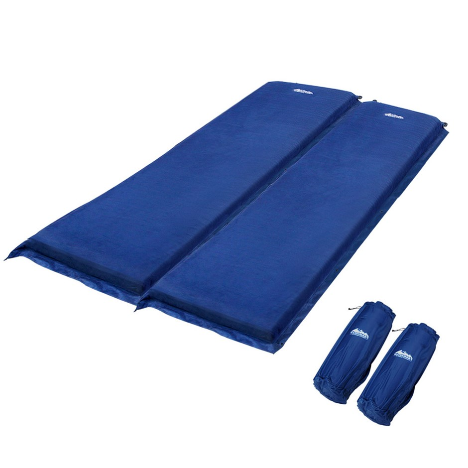 Weisshorn Double Size Self Inflating Mattress - Blue