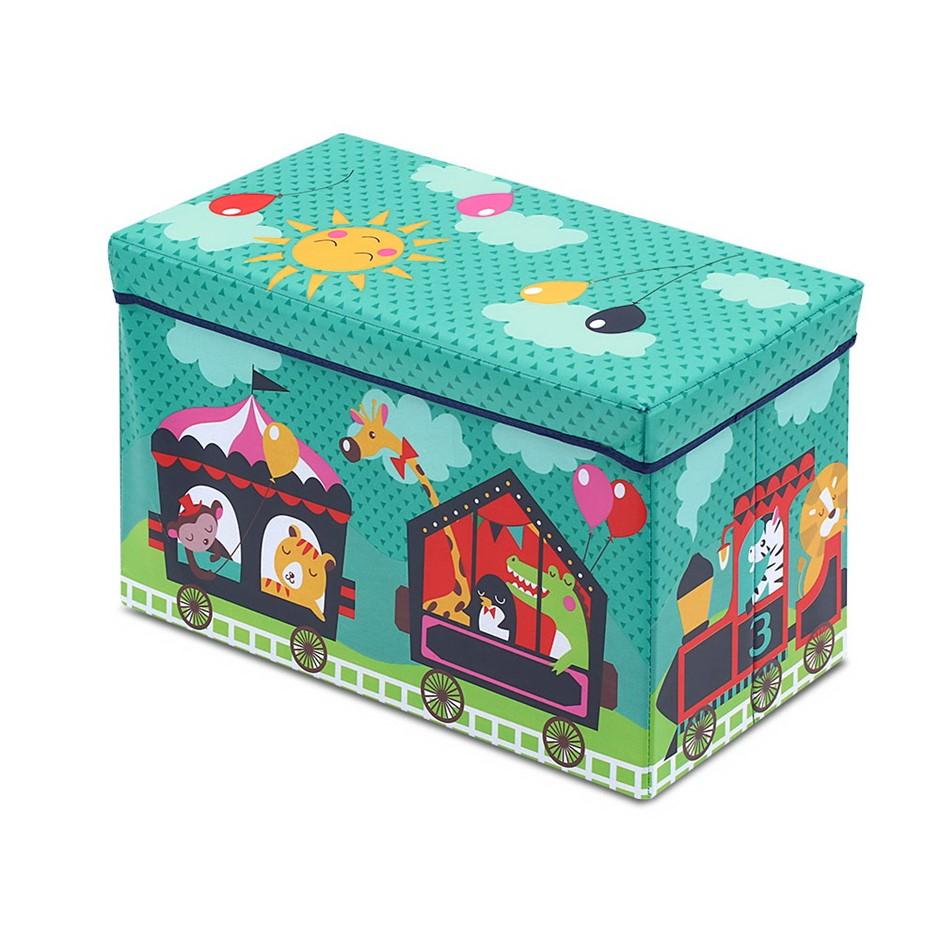 Kids Foldable Storage Toy Box - Green
