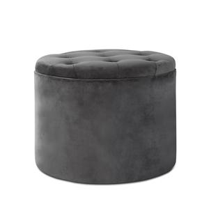 Astonishing Artiss Velvet Storage Ottoman Dark Grey Creativecarmelina Interior Chair Design Creativecarmelinacom