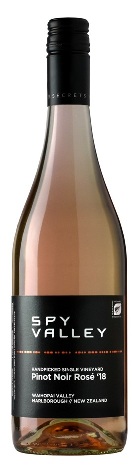 Spy Valley Pinot Noir Rose 2018 (12 x 750mL), Marlborough, NZ.