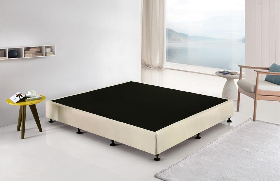 Palermo King Ensemble Bed Base Platinum Natural Sand Linen Fabric