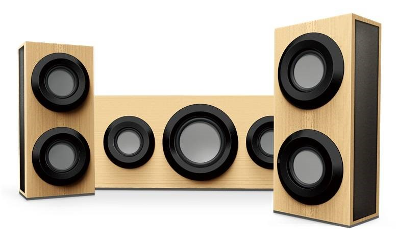 RSON Wireless Bluetooth 3-Piece Sound System (Wood Grain)