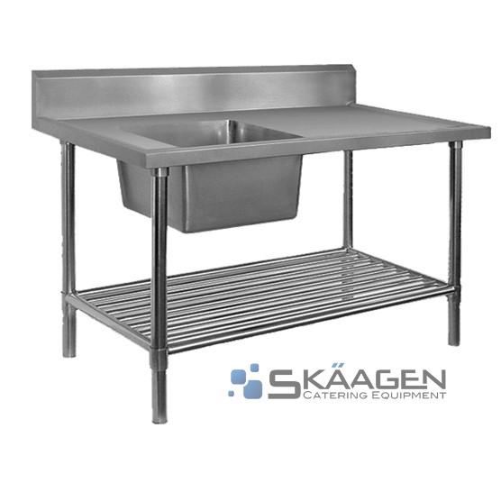 Unused Single Left 2200 x 600 Stainless Steel Sink FSA-1-2200L