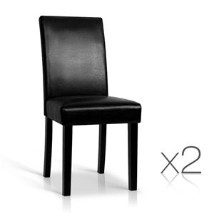 Artiss Set of 2 PU Leather Dining Chairs