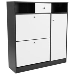 Shoe Rack Cabinet Wooden Storage Organis