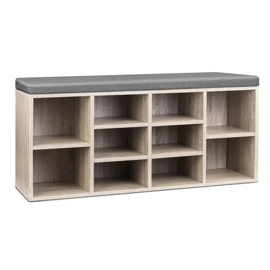 Artiss Wooden Shoe Cabinet Bench