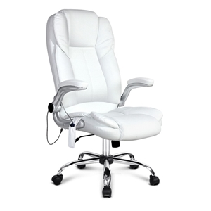 PU Leather 8 Point Massage Office Chair