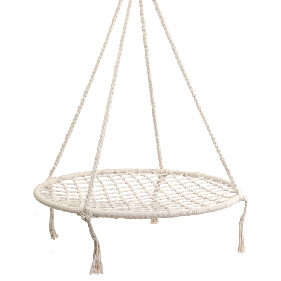 Gardeon Kids Hammock Swing Chair - Cream