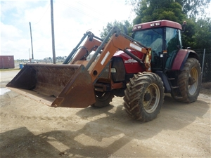 Tractor With Front End Loader 2001 Case Ih Mx 100 Fwa