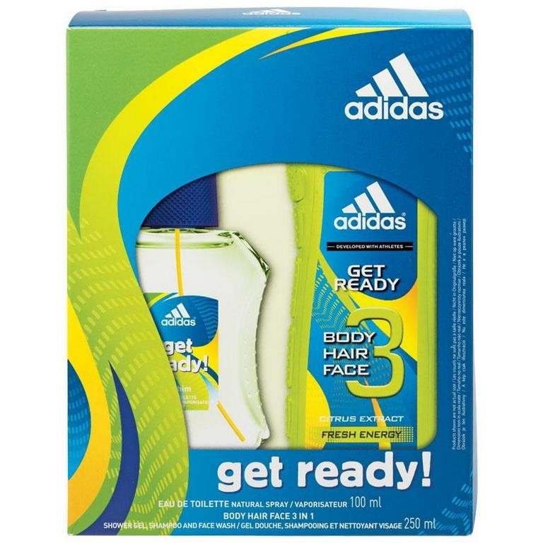 Adidas Get Ready Gift Set Comprising After Shave 100ml Body Hair