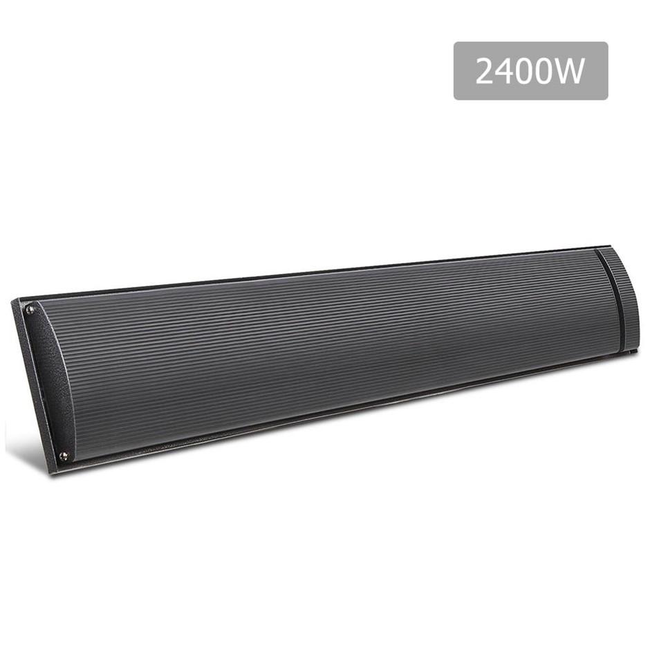 Devanti 2400W Electric Heater Panel - Black