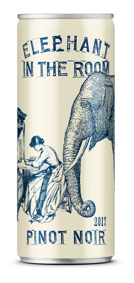 Elephant in the Room Pinot Noir 2017 (24 x 250mL Cans), SA.