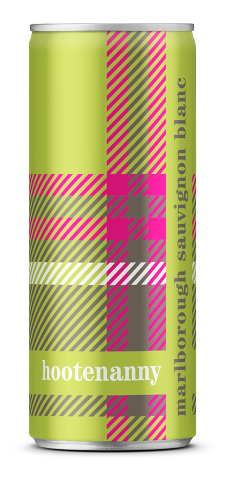 Hootenanny Sauvignon Blanc 2018 (24 x 250mL Cans), Marlborough, NZ.