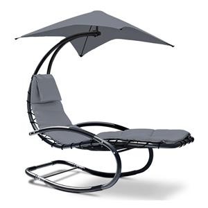 Gardeon Outdoor Canopy Lounger - Grey